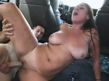 Hardcore sex in the bus featuring amateur with big tits - Skyler Luv