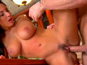 Kitchen adultery with brother-in-law by the busty Eurobabe Anissa Kate