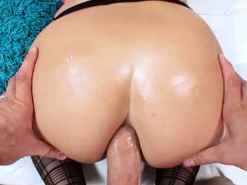 Greedy for cock babe Kenzie Greene lets Mick Blue dive into her glistening ass