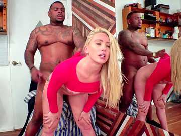 Huge black cock makes AJ Applegate scream in hardcore interracial video